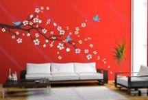 ⚱ Stickers pour décorer vos murs ⚱ / Un mur blanc c'est parfois triste... Et pourquoi ne pas l'égayer avec un sticker ? Découvrez ma sélection des plus beaux stickers chinés sur le net et sur Pinterest. / by Nathalie DAOUT - Formatrice