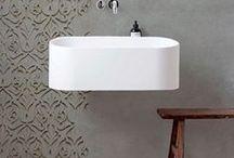 Bathroom interior : :  rheingruen / #Bathroom design, tubes, tiles, architecture, water, accessories
