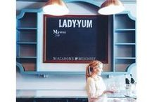 Lady Yum Stores / Home sweet home for all these delicious macarons.