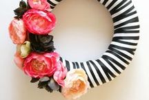 All things Wreaths and door hangers / Anything that you hang on your door that screams that a crafter lives here!