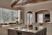 In the Kitchen / Kitchen furnishings and design ideas including #granite, #marble, #limestone, #travertine and other
