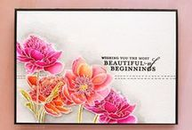 Cards - Floral / Handmade cards featuring all sorts of beautiful hand stamped and die cut flowers.