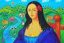 Arte - Monalisa / Releituras da famosa obra de Da Vinci.