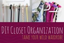 Bedroom Organization Tips / Tips and ideas inspired to keep your room clutter-free and organized.