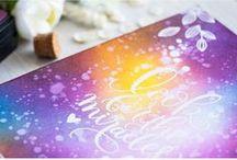 Cards - Distress Ink Backgrounds / Various cardmaking backgrounds using distress inks (galaxy, sunset etc)