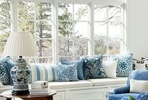 INTERIOR DESIGN // CLASSIC & CLEAN / southern design, home decor, southern home decor, decorating a home, front porch, southern home, blue and white home, home
