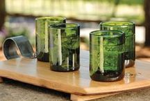 Fresh Greens / Wine accessories for a green inspired interior design and decor.