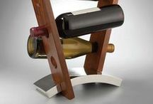 Wine Country Modern Glamour / Sleek chic Wine Country interior decor wine accessories and storage.