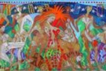 The Garden of the Muses Mural / Raising money to paint a mural based on the design of Denise Weaver Ross  Check out the latest perk. A limited edition (25) silk scarf, signed by the artist and based on the mural for only $85!  https://www.indiegogo.com/projects/garden-of-the-muses-mural/contributions/new?perk_amt=85&perk_id=2300189