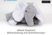 eBook Elephant und Mammut / Nähbeispiele für mein eBook Elephant