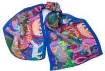 Limited Editon Silk Scarves / These silk scarves are limited editions 25 per image and signed by the artist
