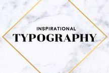 Typography • Lettering / Inspirational Typography Lettering