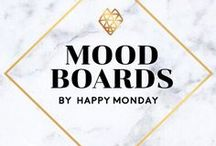 Mood Boards by Happy Monday / Moodboard and inspiration style board projects designed by Happy Monday @ www.kimberlycoles.com