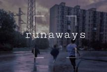 - ̗̀ runaways ̖́- / six teenagers from different backgrounds unite against a common enemy – their criminal parents, collectively known as the pride