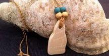 Beach Jewelry / Driftwood pendants - Seaglass jewelry - Sea pottery pendants