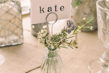 Wedding place holders & name tags