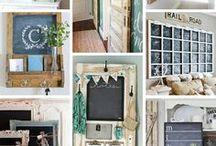 Chalkboard Inspiration / I am obsessed with Chalkboard crafts, chalkboard decor and chalkboard organization ideas. I save chalkboard printables here too! I would put a chalkboard in every room of my home if I could! :)