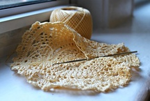 """Yarn and Needles / """"The only place where housework comes before needlework is in the dictionary."""""""