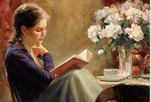 Art ~ For the love of reading / The love of learning, the sequestered nooks, and all the sweet serenity of books.~Henry Wadsworth Longfellow