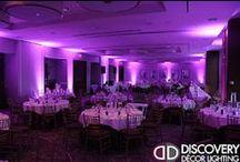 Wedding Uplighting | Purple / #purple #wedding #uplighting in #Dallas