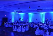 Wedding Uplighting | Blue / #blue #wedding #uplighting in #Dallas