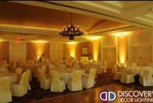 Wedding Uplighting | Amber & Yellow / #Amber #Wedding #Uplighting in #Dallas