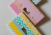 Washi Tape Crafts / Washi Tape crafts, ideas and inspiration, I would washi everything if I could!