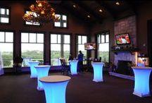 Table lighting / #cocktail #table #lighting #wedding