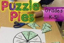 Puzzle Pies / Check out these puzzles if your students need work on their basic math facts. Puzzle Pies are great for early and fast finishers, GATE, critical thinking, review, test prep, math centers, enrichment, and much more! Various product ideas for Kindergarten, 1st, 2nd, 3rd, 4th, and even 5th grade - plus homeschool families. Check them all out here: https://www.teacherspayteachers.com/Store/Hojo/Category/Puzzle-Pies / by Heather aka HoJo