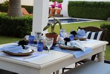 Summer tablescape / Decorations for the summer, outdoor tablescape, inspirations for the beach house, by the pool