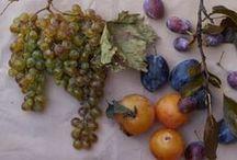 Fruits and greens stilllife