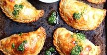 Hand Pies, Pocket Sandwiches and Hand Held Food / Hand held food recipes - hand pies, empanadas and pocket sandwiches.