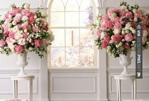 Ceremony Flowers / Likely to be the most photographed floral arrangements at any wedding, they need to be large enough for the space they are in. To stretch a budget, they can also do double duty in the reception as buffet florals or flanking the head table.