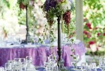 Tall Centerpieces / For a reception in a large room, a mixture of short and tall centerpieces adds visual interest to a room.  Here are some of our favorite tall centerpieces.