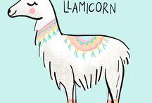 Unicorn & llama & cactus