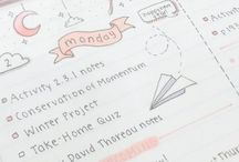 Get more organized / This is some of ideas how to create a perfect journal. I have to learn how to be more organized. If you have the same problems just have a look