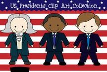President's Day Worksheets and Activities / Great ideas to learn about U.S. presidents with cute images and activities.