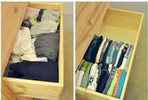 Saving space and Ideas / Create better storage space and flexibility with nifty ideas for practicability.