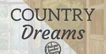 Country Dreams / We just love a good farmhouse, don't you?   www.antiquelumber.com   Antique Lumber Company   Gainesville, TX