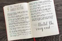 Harry Potter Bullet Journal / Gestalte dein Bullet Journal im Harry Potter Style! Hier findest du dazu einiges an Inspiration.