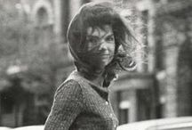 Jackie  / In my lifetime, there have but two women, of whom I can say, had timeless Beauty.  Jackie Kennedy was one of them.  This board is dedicated to her memory.  This cover picture is my favorite photo of her I think.  / by Jackee Allen