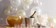DIY New Years Party / DIY Decorations, appetizers & more for a fun and easy new years party. Finding ways to decorate without spending too much.