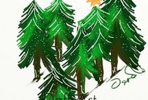 Christmas Artwork Cobwebz Gallery / My digital Christmas Art!