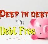 MONEY $ | Deep in Debt to Debt Free /  So you want to be debt free? Discover how we did it for our family with these tips, tricks and budgeting hacks to help you get out of debt and live the dream. Request a copy of our popular new ebook filled with 22 TRIED & TRUE cleaning product recipes using simple ingredients from home --->http://bit.ly/2agWHPK