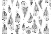 INSPIRATION: Feather Prints and Patterns / Textile design & surface pattern design inspiration - all things feathery