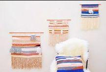 ► Weaving ► Inspired (TEXTILE, WOOL) / Tissage, Tassel Handwoven wall, tapestry, Weaving, wall art, Macrame, Inspired (TEXTILE), Weaving, Warp & Weft, Diy WOOL / by Myls