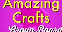 DIY/Crafts ✄ | Amazing Crafts on Pinterest Group Board / This is a collaborative board where we share the best crafts found on Pinterest.To join this group board, please leave send a message to info(@)thethriftycouple.com with name of Pinterest Board in the subject line.