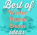 HOME ⚱  | Winter Decor Ideas / The cold weather decor inspiration after Christmas, while it is still winter and cold! These are fun and beautiful ideas to keep the home festive year round!  Request a copy of our popular new ebook filled with 22 TRIED & TRUE cleaning product recipes using simple ingredients from home -------->http://bit.ly/2agWHPK