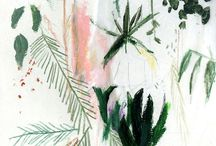 "TRENDS : Sketchbook Botanical Trend SS18 / With Pantone announcing ""Greenery' as their colour for 2017, combined with all the lush botanical motifs & hand-drawn, energetic line work; you can see these trends combining & gathering momentum for Spring Summer 18 as Sketchbook Botanicals."
