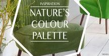 TRENDS: Nature's colour palette / Home Decor and Interiors Trend: Step outside and take your inspiration from nature. Why not seek out new colours and textures for your home when wandering around a hidden glen or sun dappled forest?""